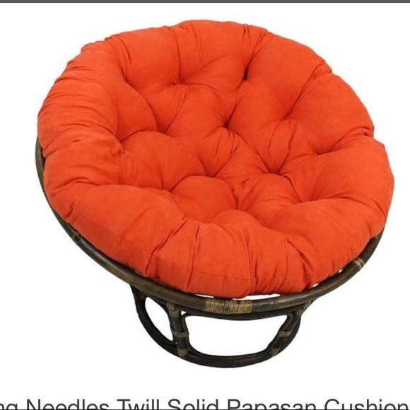 world market other papasan chair cushion burnt orange poshmark